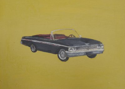 1962 FORD GALAXIE 500<br />oil on panel     11 x 11     2011