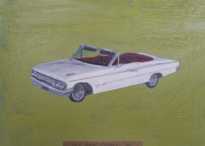 1963 FORD GALAXIE 500<br />oil on panel     10 x 14     2011