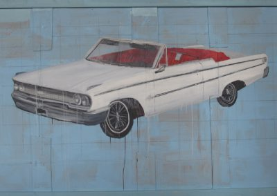 1963 FORD GALAXIE<br />oil on panel     45 x 80     2012