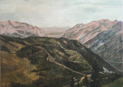 LITTLE COTTONWOOD<br />oil on canvas     72 x 80     2015