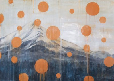 MT. SHASTA<br />oil on canvas     72 x 72     2015