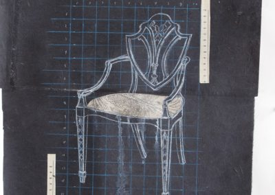 CHAIR 7<br />mixed media on paper30 x 222015