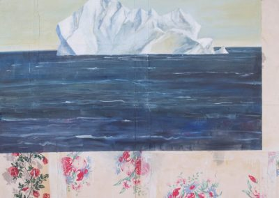 ICEBERG<br />oil and collage on canvas72 x 60