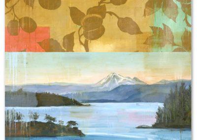 MOUNTAIN LAKE<br />oil on canvas70 x 62