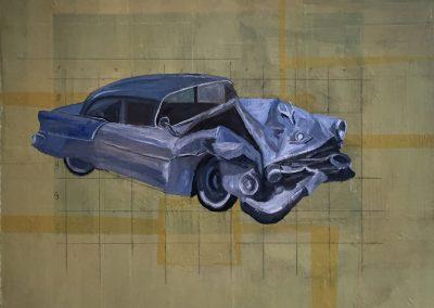 CAR WRECK<br />oil on canvas32 x 402017