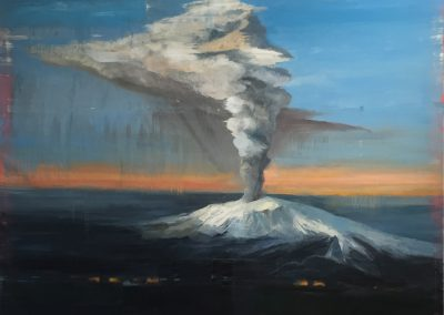 CENTRAL CRATER<br />oil on canvas74 x 922016