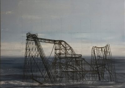 ROLLER COASTER<br />oil on canvas65 x 602017